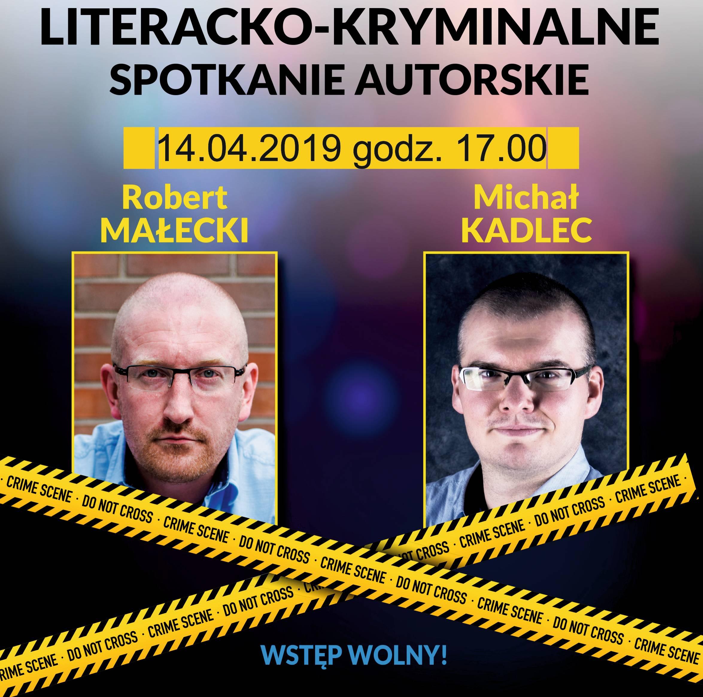 Literacko-kryminalne spotkanie autorskie