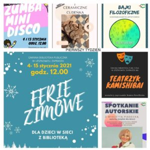 Pierwszy tydzień Ferii Zimowych 2021 wbibliotece
