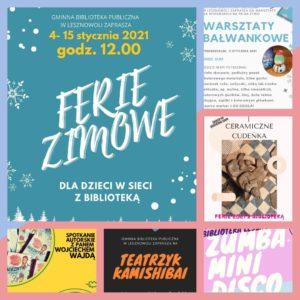 Drugi tydzień Ferii Zimowych 2021 wbibliotece