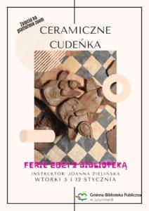 Ferie Zimowe – Ceramiczne Cudeńka