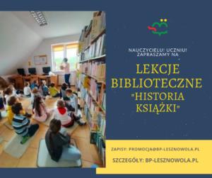 Lekcje biblioteczne kl. 0 ASP wŁazach